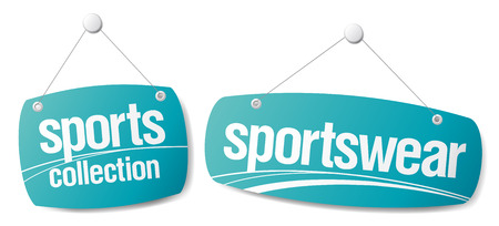Set of signs for sportswear collection Vector