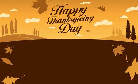 Illustration for happy thanksgiving day celebration.
