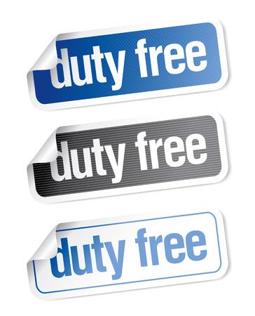 duty: Duty free stickers set Illustration