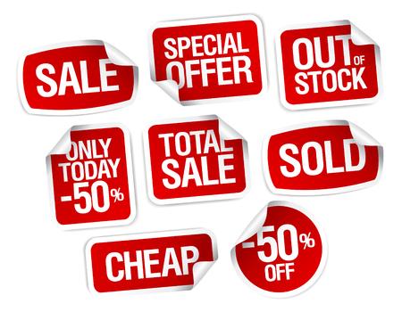 Set van stickers voor de beste stock verkoop
