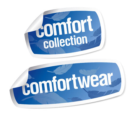 Comfort wear collection stickers Stock Vector - 8110736