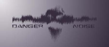 Danger noice vector background Stock Vector - 8110738