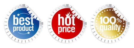 best product: Set of stickers for best product sales