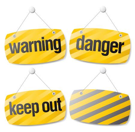 Set of warning vector signs Stock Vector - 8110739
