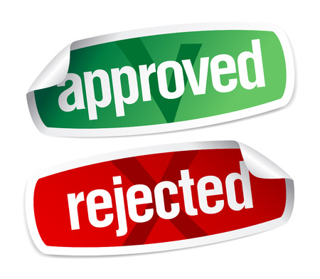 fail: approved and rejected stickers set