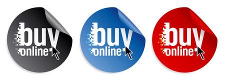 Buy online stickers set. Stock Vector - 8125731