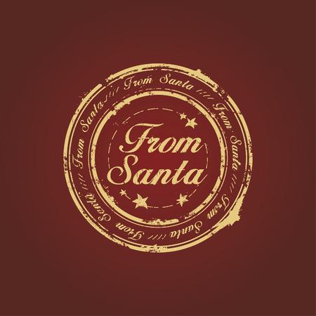claret: From Santa stamp on claret