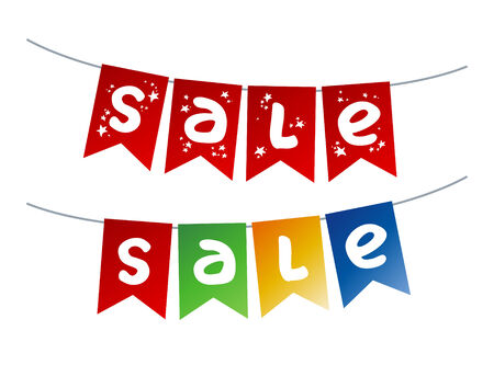 festoon: Christmas Sale garlands. Illustration
