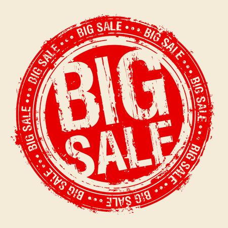 big business: Sello de caucho de gran venta. Vectores