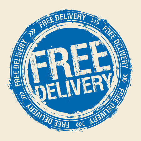 old stamp: Free delivery rubber stamp.