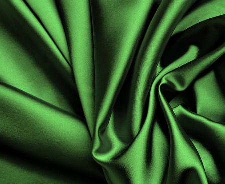 Smooth elegant green satin background. Stock Photo