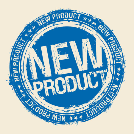 new products: New product rubber stamp.