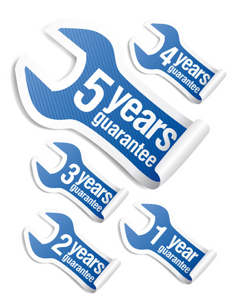 guarantee stickers set Vector