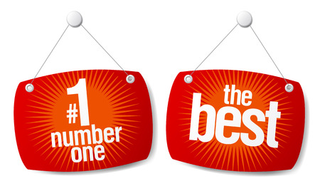 price tag: The leader of sales best products signs set
