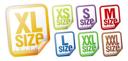 small size: conjunto de etiquetas de ropa de tama�o