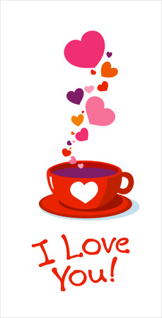 Tea cup with love hearts.