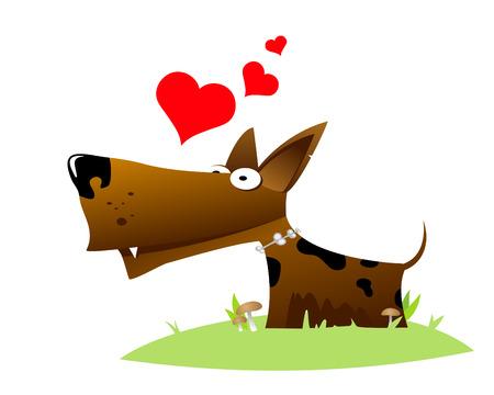 In love dog. Vector