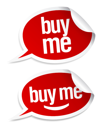 me: Buy me stickers set in form of speech bubbles.