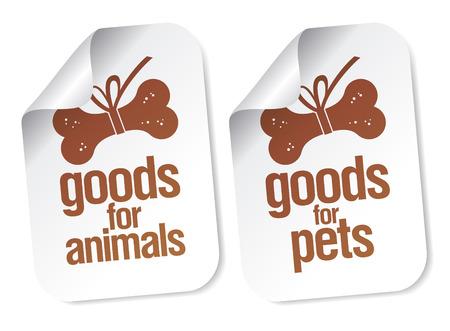 productos para animales de compañía pegatinas conjunto