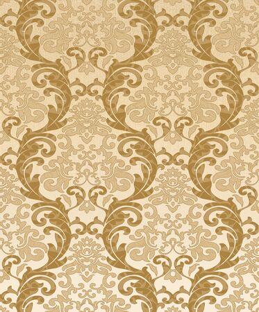 Seamless damask wallpaper photo
