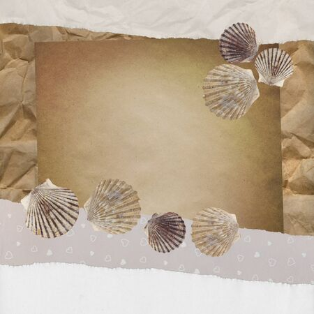 Vintage background with shells. Stock Photo - 8618954
