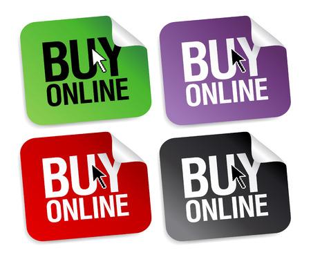 Koop online stickers set.