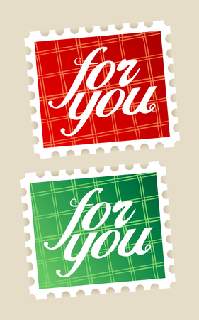 For you postage stamps set. Vector