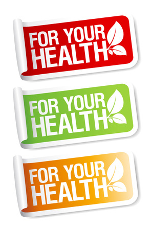 healthy choices: Vital stickers set.