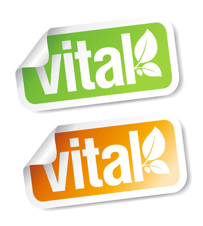 Vital stickers set. Vector