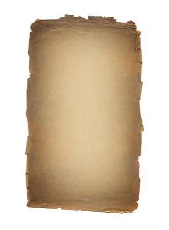 Aged vintage paper isolated on white. Stock Photo - 8669004