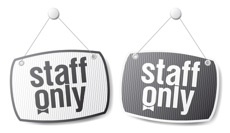 staff only: Staff only signs, restriction set.