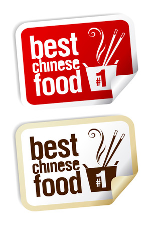 chinese fast food: Best Chinese food stickers set.
