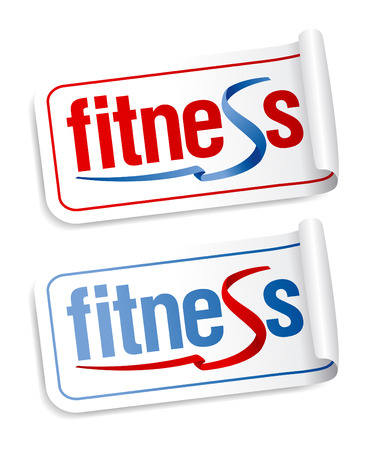 Fitness stickers set. Stock Vector - 8732875