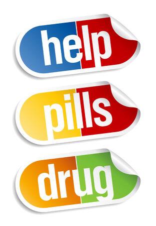 pastillas: Las p�ldoras, Adhesivos m�dicos Set.