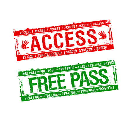 visa approved: Free access stamps set