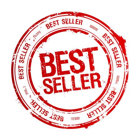 vendeurs: Meilleur vendeur tampon de caoutchouc. Illustration