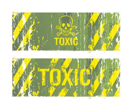 trucizna: toksyczne tła Ilustracja
