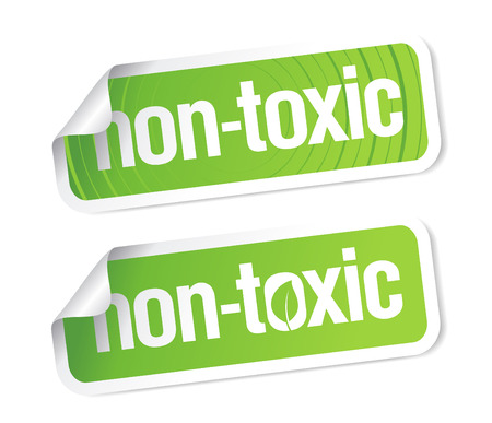 non: Non toxic product stickers set.