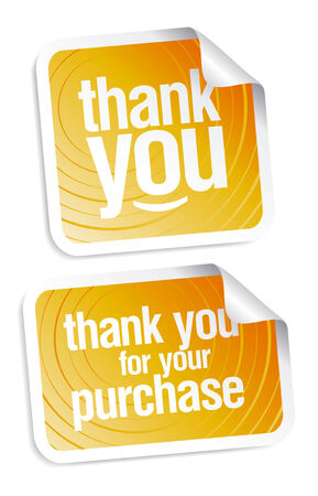Thank you grateful stickers Vector
