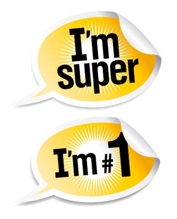 best products: Best products stickers set in form of speech bubbles. Illustration