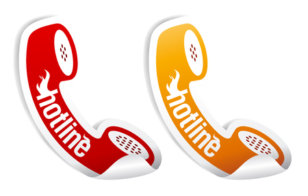 Hotline stickers set. Stock Vector - 8880922