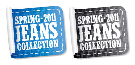 Spring 2011 jeans collection stickers set Stock Vector - 8880924