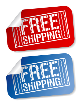 shipping containers: Free shipping stickers set.