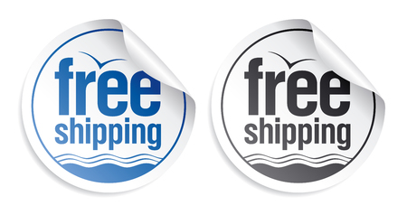 Free shipping stickers set. Stock Vector - 9059509