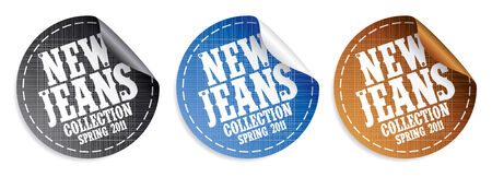 New Jeans collection Spring 2011 stickers set Stock Vector - 9059516