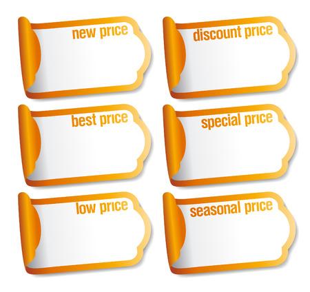 balise: Autocollants de prix meilleurs avec place vide pour les prix. Illustration