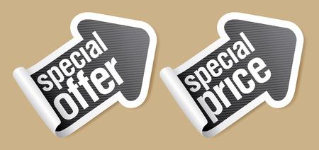offerta speciale: Offerta speciale adesivi a forma di freccia.