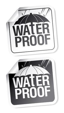 Waterproof stickers set. Stock Vector - 9059514