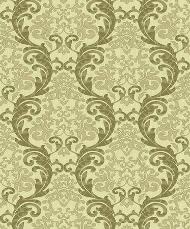 damask pattern: Seamless damask wallpaper Stock Photo