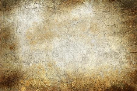 fissure: Mur de grunge avec fissures Banque d'images